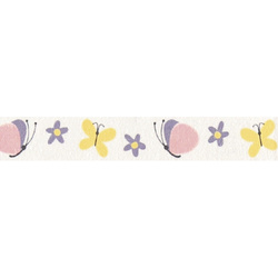 Ribbon printed 15mm lt yellow/lt rose 3m