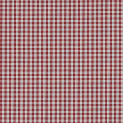 Cotton yarn dyed red/white small check
