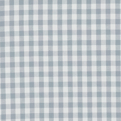 Cotton yarn dyed light blue/white check
