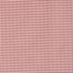 Yarn dyed wine red small check
