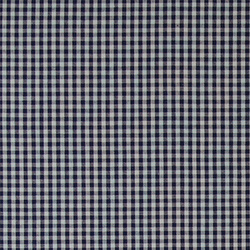 Cotton yarn dyed dark blue small check