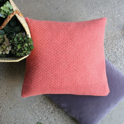 Cushion cover in moss stitch