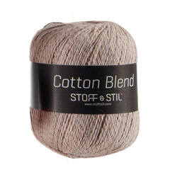 Knitting yarn cottonblend ant. rose/sand