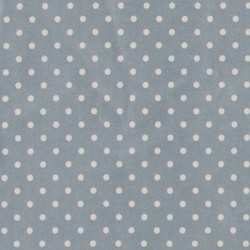 Woven oilcloth blue w white dots