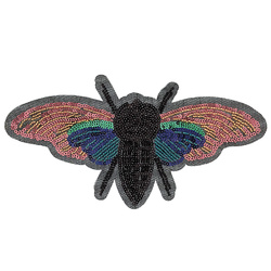Patch moth 21,5x11cm multicolor 1pc