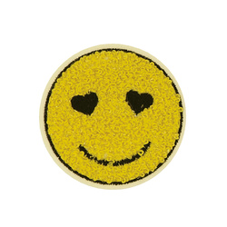 Patch smiley Ø55mm yellow 1pcs