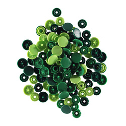 PRYM LOVE snapfastener 12,4 green 30pcs