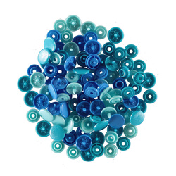 PRYM LOVE snapfastener 12,4 blue 30pcs