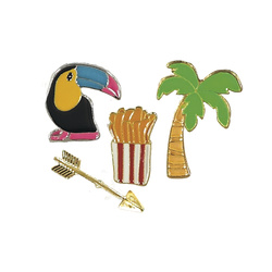 Pins tropical 25-38mm 4stk