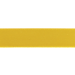 Satin ribbon 15mm yellow 25m