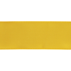 Satin ribbon 38mm yellow 25m