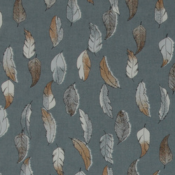 Organic woven cotton voile with feather