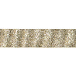 Ribbon woven 32mm sand/gold lurex 3m