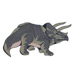 Patch triceratops 13,7x7cm grey 1pcs
