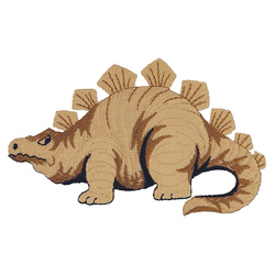 Patch stegosaurus 11,5x7cm brown 1pcs