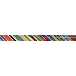 Piping ribbon cotton 4mm striped 3m