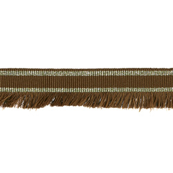 Ribbon woven w/fringe 30mm brown/lurex2m