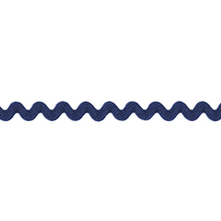 Ric rac ribbon 5mm blue 3m