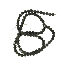 Bead jaspis 4mm dark green 90 pcs