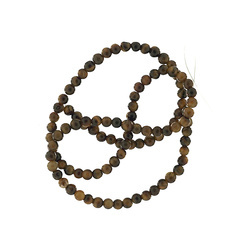 Bead tigereye 4mm brown 90 pcs