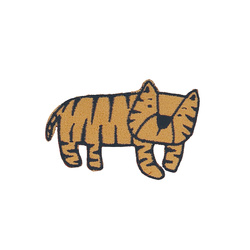 Patch tiger 65x45mm light brown 1pcs