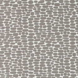 Nonwoven oilcloth white/grey oval dot