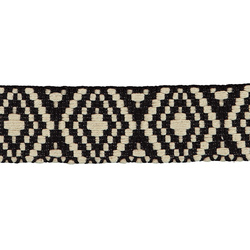 Ribbon woven 40mm black/nature 2m