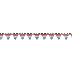 Deco ribbon 14mm blue/red/white 2m