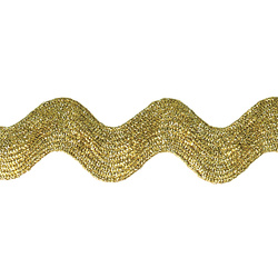 Ric rac ribbon 23mm gold lurex 2m
