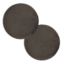 Shank button shiny velour 45mm mole 2pcs