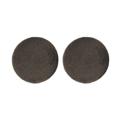 Shank button shiny velour 30mm mole 2pcs