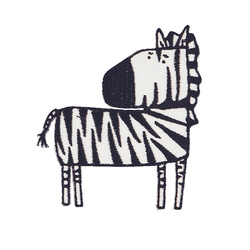 Patch zebra 70x80mm white/black 1pcs