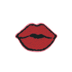 Patch mouth 62x42mm red 1pcs