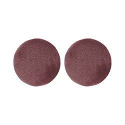 Shank button shiny velour 30mm rouge 2pc