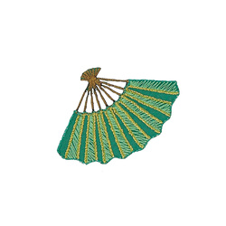 Patch fan 65x45mm green 1pcs