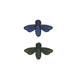 Patch kit bees 40x23mm green+blue 2pcs