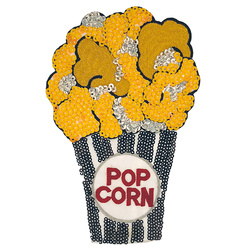 Patch popcorn 13x20cm yellow/gold 1 pc