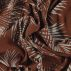 Woven stretch viscose brown palm leaves