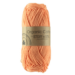 Knitting yarn organic cotton melon