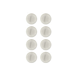 Shank button 12mm light grey 8 pcs