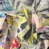 Percale yellow w multicolour flowers
