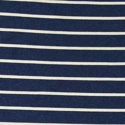 Knit jacquard dark blue stripe w lurex