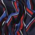 Woven viscose dark navy with stripes