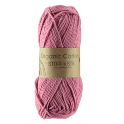 Knitting yarn organic cotton dark rose
