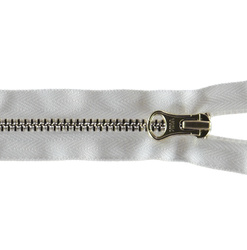 YKK zip 4mm closed end gold/white