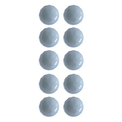 Shank button 12mm light blue 10 pcs