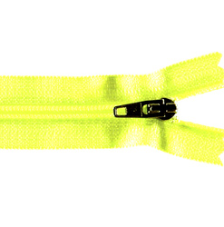 YKK zip 4mm coil closed end neon yellow