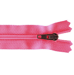 YKK zip 4mm coil closed end neon pink