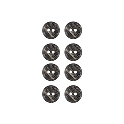 Button 2-holes 12mm grey mix 8 pcs