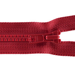 YKK zip 6mm open end red